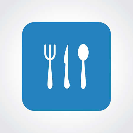 Flat Icon of Restaurant