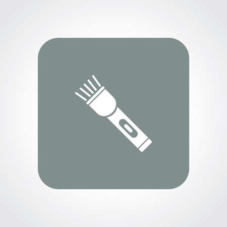 flash of light: Flat Icon of Flash Light