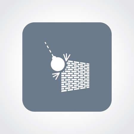 Flat Icon of Wrecking Ball Vector
