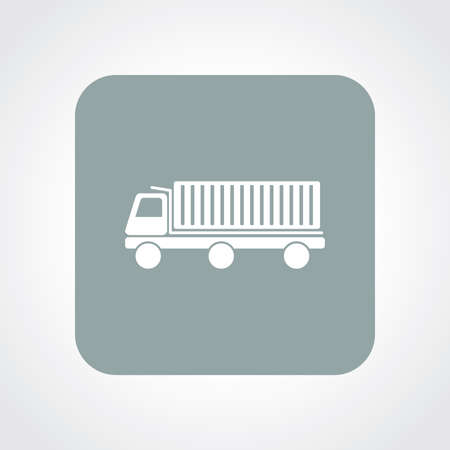 luggage carrier: Flat Icon of truck
