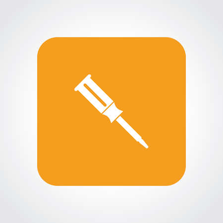 Flat Icon of screw driver Vector