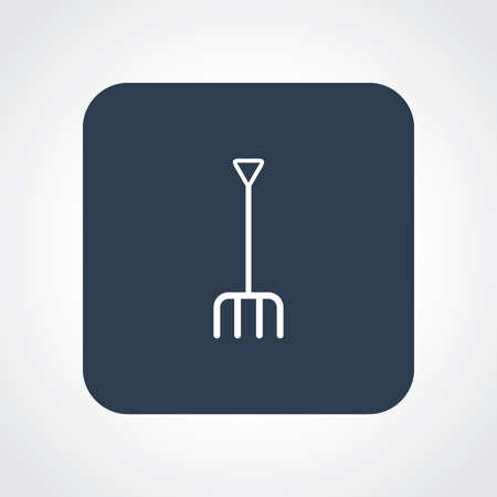 pitchfork: Very Useful Flat Icon of pitchfork. Eps-10. Illustration