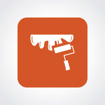 paintroller: Flat Icon of roller paint Illustration