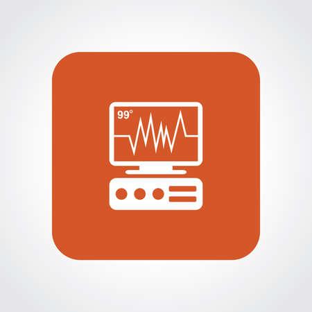 icu: Flat Icon of ICU