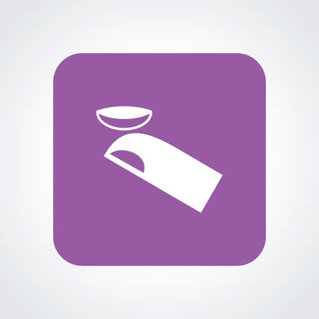 contact lens: Flat Icon of contact lens