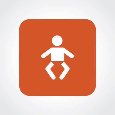 infant: Flat Icon of Infant Baby