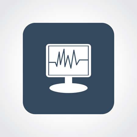icu: Flat Icon of ICU Monitor Illustration