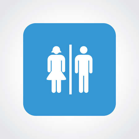 genders: Flat Icon of Toilet sign Illustration