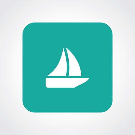 sail boat: Flat Icon of sail boat