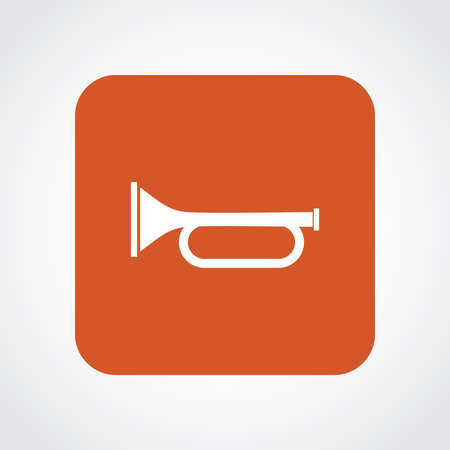 clarinet player: Flat Icon of Trumpet Illustration
