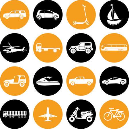 transportation icons: Transportation icons set. Eps-10. Vehicle Icon.