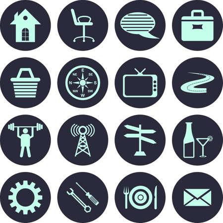 useful: very useful Editable Vector Web Icons Illustration