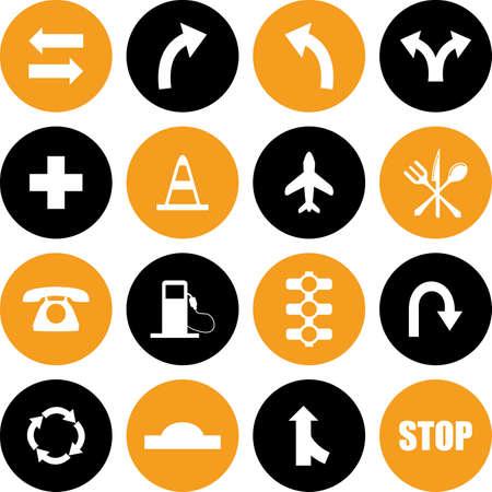 vector traffic sign Icons. Illustration