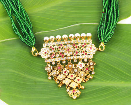 lavish: Indian Traditional Jewellery Necklace Isolated