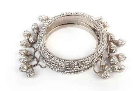 Indian Bangles. Bracelet with diamonds