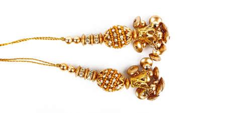 karat: Indian Bangles. Bracelet with diamonds on a white background
