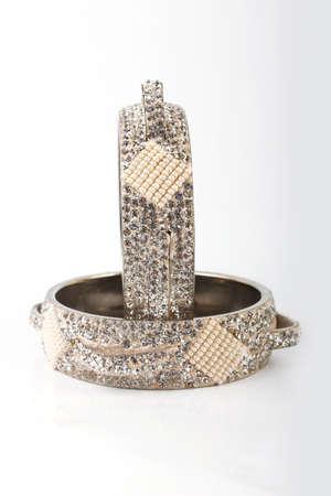 bangle: Bangle, Indian bracelets isolated on the white background