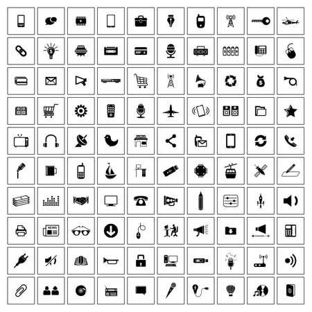 web icons: Universal communication  Web icons set Illustration