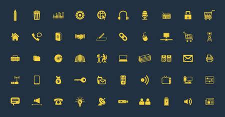 communication icons: Universal communication  Web icons set Illustration