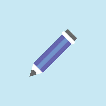 Flat icon of Pencil. Illustration