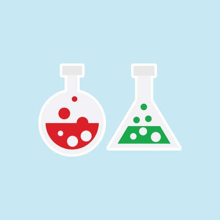 Flat icon of Laboratory Glass