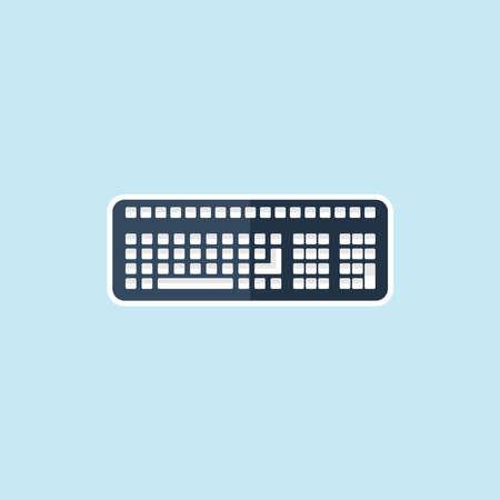 put the key: Flat icon of Keyboard