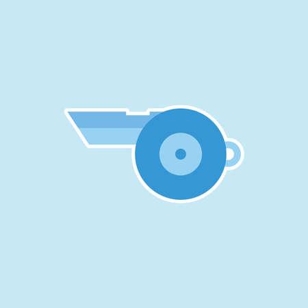 Flat icon of Whistle Illustration
