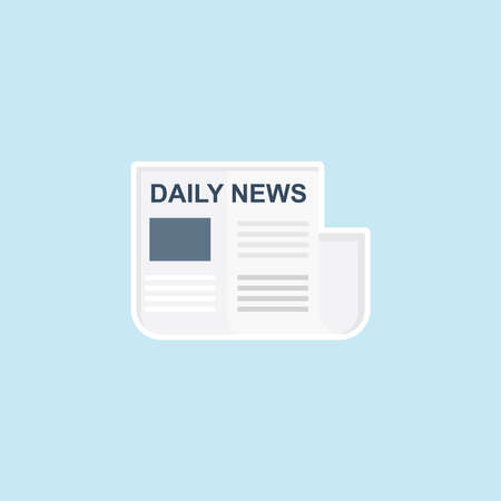 Flat icon of News Paper Illustration