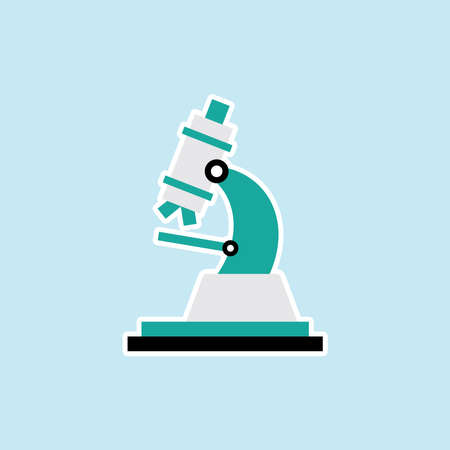 Flat icon of Microscope