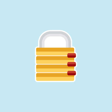 Flat icon of Data Security