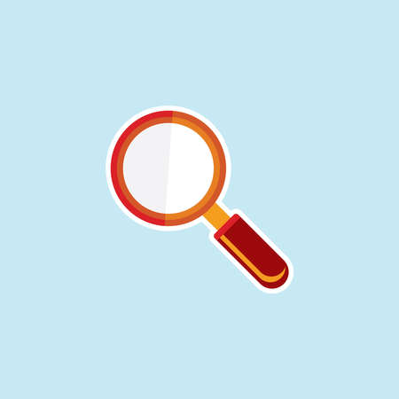 Flat icon of Search Illustration