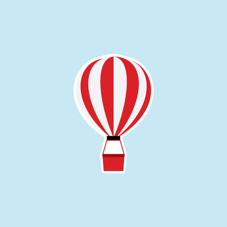 Flat icon of Parachute Illustration