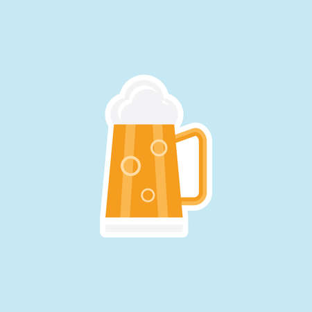 Flat icon of Beer Glass