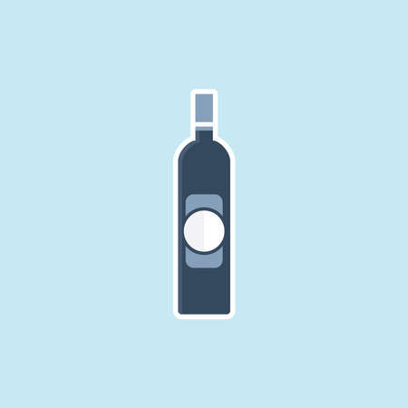 Flat icon of Beer Bottle