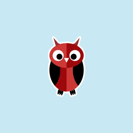 Flat icon of Owl