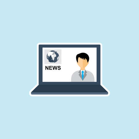 Flat icon of News Reporter