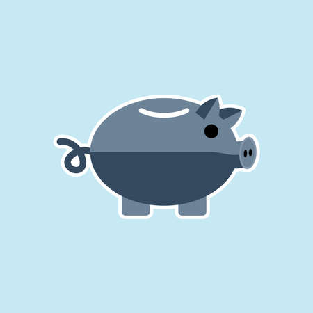 Flat icon of Piggy bank