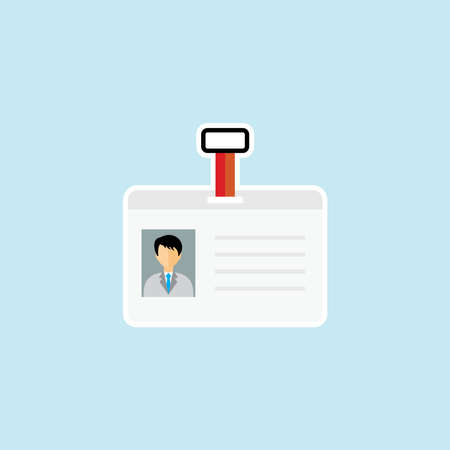 Flat icon of Identity Card