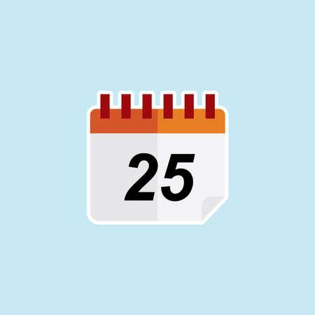 Flat icon of Calendar Illustration