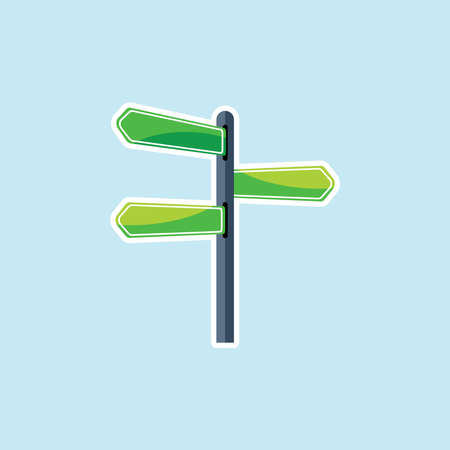 Flat icon of Blank road Sign Illustration