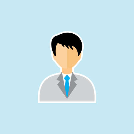 Flat icon of man in business suit Illustration