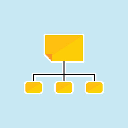Flat icon of Site map