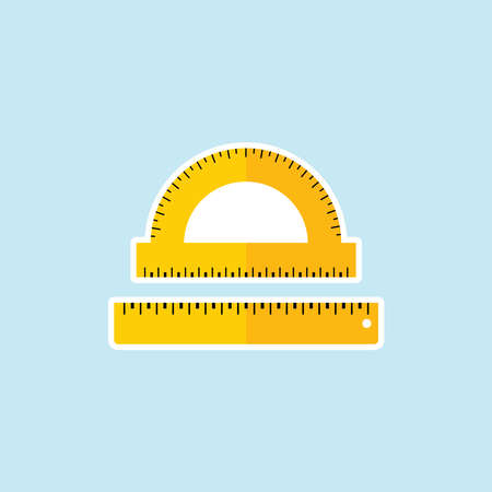 Flat icon of Ruler
