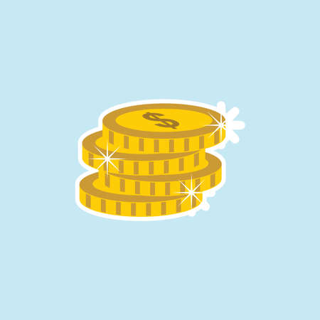 Flat icon of Coins Illustration