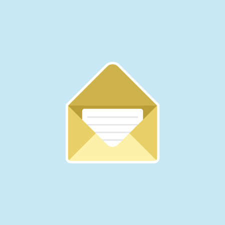 Flat icon of Envelope Mail Illustration