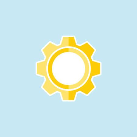 Flat icon of Setting Illustration
