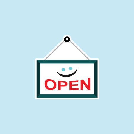Flat icon of Open