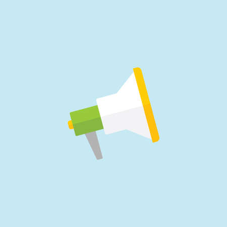 Flat icon of Loudspeaker Illustration