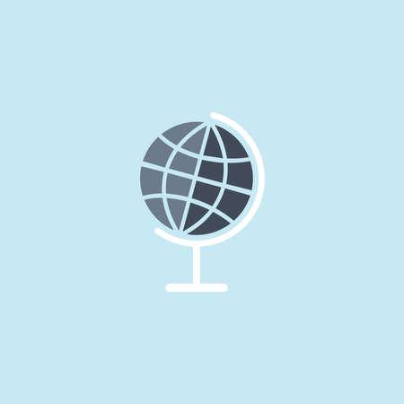 Flat icon of Globe Illustration