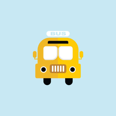 Flat icon of Bus